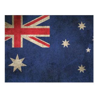 Carte Postale Drapeau affligé par cru de l'Australie