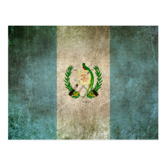 Carte Postale Drapeau affligé par cru du Guatemala