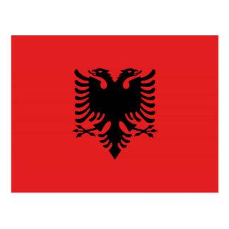 Carte Postale Drapeau albanais avec l'aigle deux-dirigé