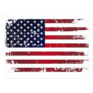 Carte Postale Drapeau américain