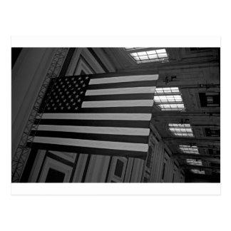 Carte Postale Drapeau américain à la station des syndicats