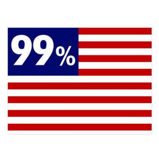 Carte Postale Drapeau américain de 99 % - occupez Wall Street