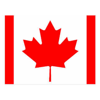 Carte Postale Drapeau canadien