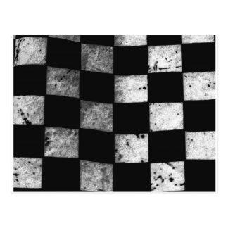 Carte Postale Drapeau Checkered