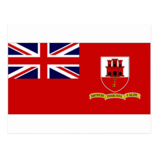 Carte Postale Drapeau civil du Gibraltar