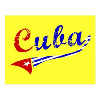 Carte Postale Drapeau cubain