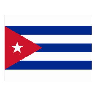 Carte Postale Drapeau cubain - Bandera Cubana - drapeau du Cuba