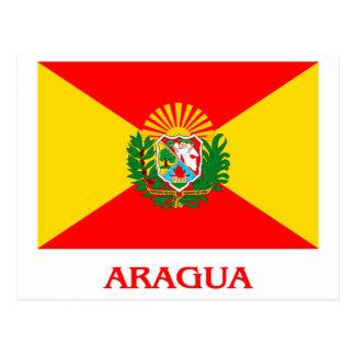 Carte Postale Drapeau d'Aragua avec le nom
