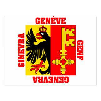 Carte Postale Drapeau de canton de Genève Suisse