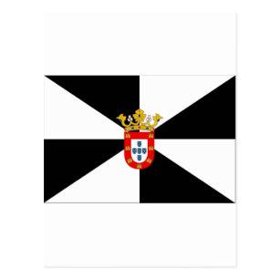 Carte Postale Drapeau de Ceuta (Espagne)