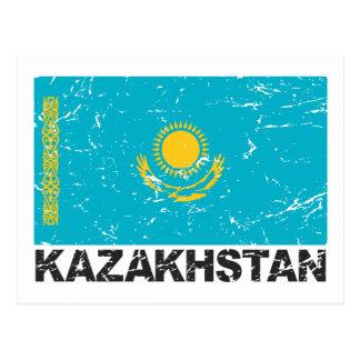 Carte Postale Drapeau de cru de Kazakhstan