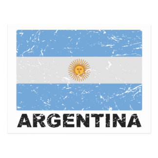 Carte Postale Drapeau de cru de l'Argentine