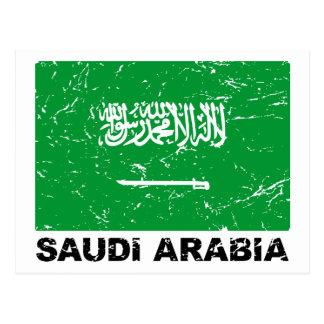 Carte Postale Drapeau de cru de Saudia Arabie