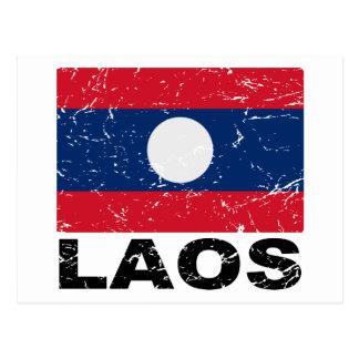 Carte Postale Drapeau de cru des Laotiens