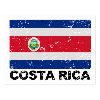 Carte Postale Drapeau de cru du Costa Rica