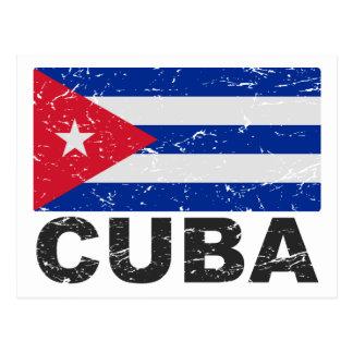 Carte Postale Drapeau de cru du Cuba