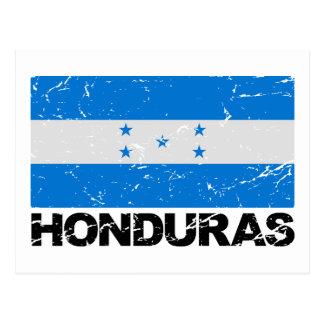 Carte Postale Drapeau de cru du Honduras