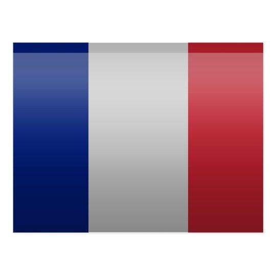 Carte Postale Drapeau de de la France