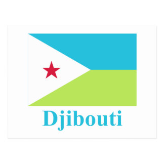 Carte Postale Drapeau de Djibouti avec le nom