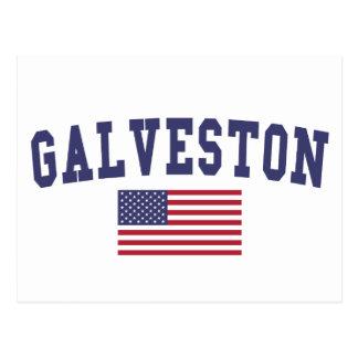 Carte Postale Drapeau de Galveston USA