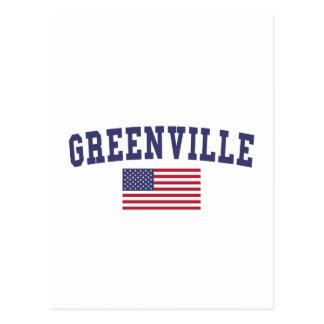 Carte Postale Drapeau de Greenville OR USA