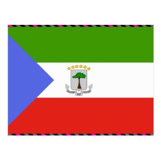 Carte Postale Drapeau de Guinée équatoriale