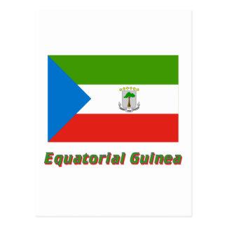 Carte Postale Drapeau de Guinée équatoriale avec le nom