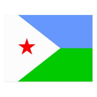 Carte Postale Drapeau de haute qualité de Djibouti