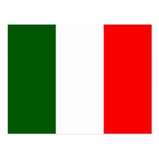 Carte Postale Drapeau de haute qualité de l'Italie