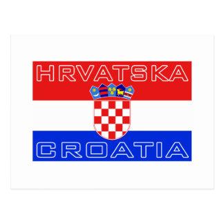 Carte Postale Drapeau de Hrvatska de Croate de la Croatie