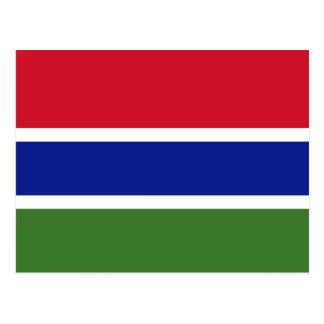 Carte Postale Drapeau de la Gambie