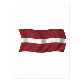 Carte Postale Drapeau de la Lettonie
