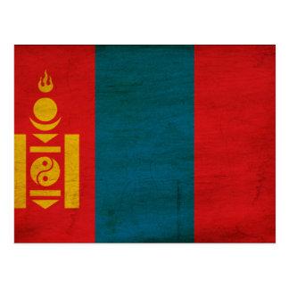 Carte Postale Drapeau de la Mongolie