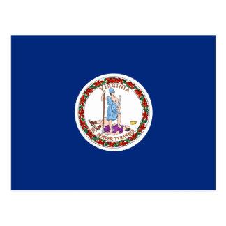 Carte Postale Drapeau de la Virginie