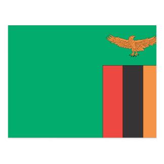 Carte Postale Drapeau de la Zambie