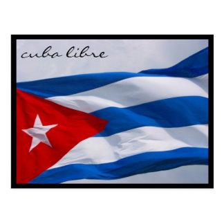 Carte Postale drapeau de libre du Cuba