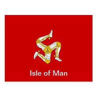 Carte Postale Drapeau de l'île de Man