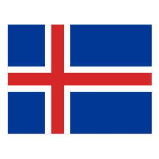 Carte Postale Drapeau de l'Islande