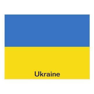 Carte Postale Drapeau de l'Ukraine