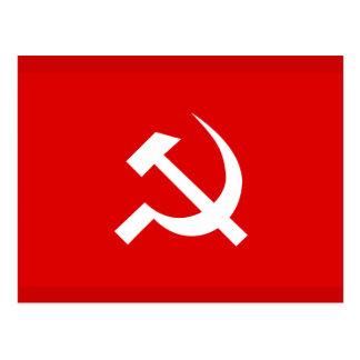 Carte Postale Drapeau de marteau et de faucille de l'URSS de