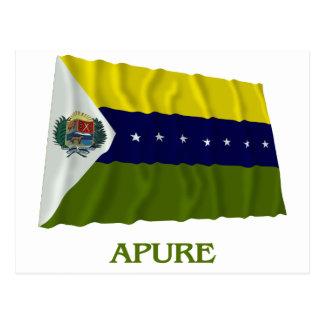 Carte Postale Drapeau de ondulation d'Apure avec le nom