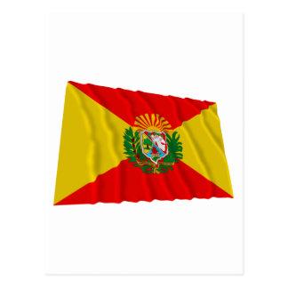 Carte Postale Drapeau de ondulation d'Aragua