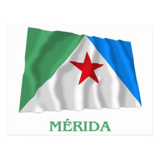 Carte Postale Drapeau de ondulation de Mérida avec le nom