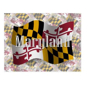 Carte Postale Drapeau de ondulation du Maryland