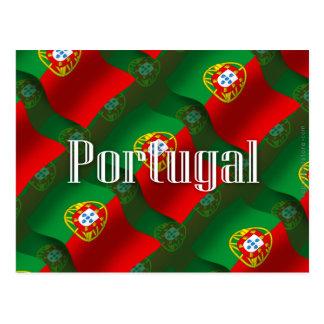 Carte Postale Drapeau de ondulation du Portugal