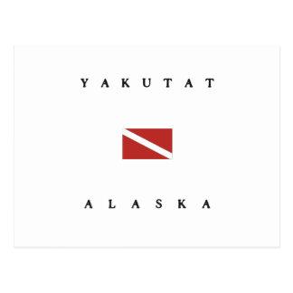 Carte Postale Drapeau de piqué de scaphandre de Yakutat Alaska