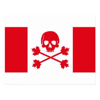 Carte Postale Drapeau de pirate du Canada