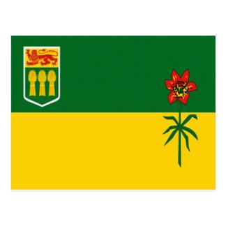 Carte Postale Drapeau de Saskatchewan