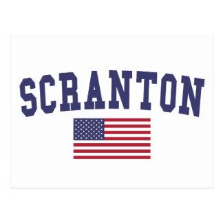 Carte Postale Drapeau de Scranton USA