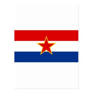 Carte Postale Drapeau de SR Croatie